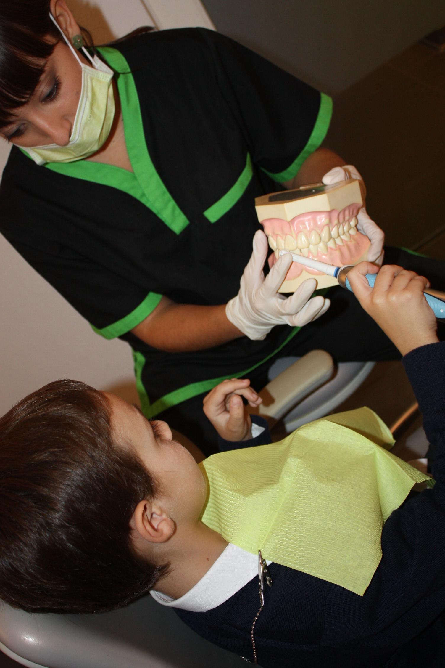 Un profesional dental experto podrá enseñar a sus hij@s las mejores técnicas de higiene
