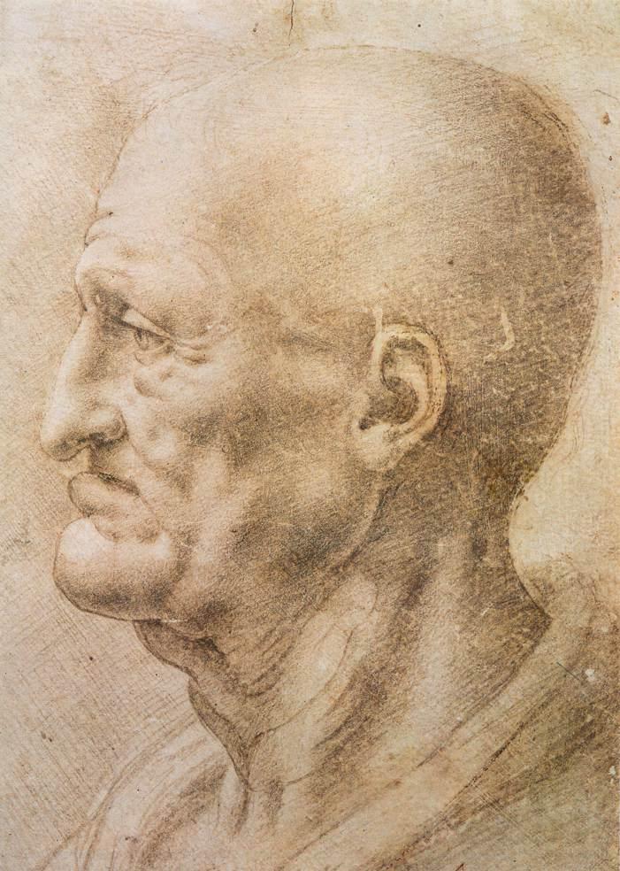 Los dibujos de da Vinci ya ilustraban los efectos de la pérdida de dientes en la estética facial