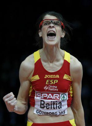 Ruth Beitia, deportista profesional, oro en los europeos de atletismo con pista cubierta