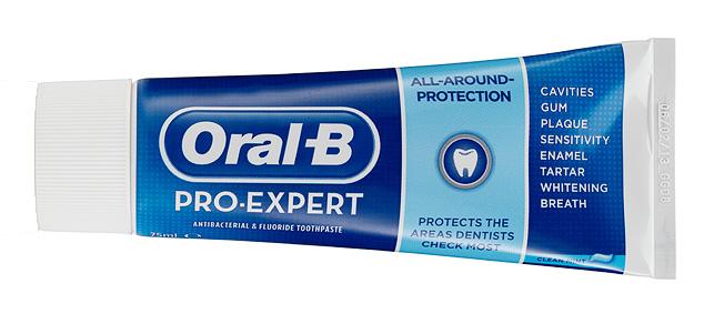 Oral-B Pro-Expert, con fluoruro de estaño estabilizado, nos ayudará a mantener sanos nuestros dientes y encías