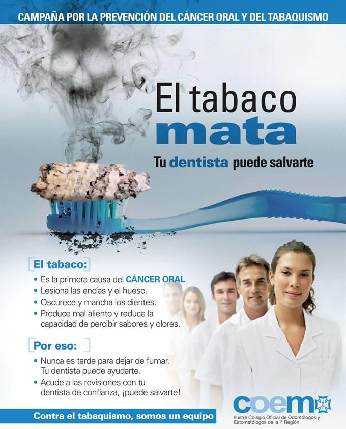 La campaña del COEM no deja lugar a dudas: el tabaco mata