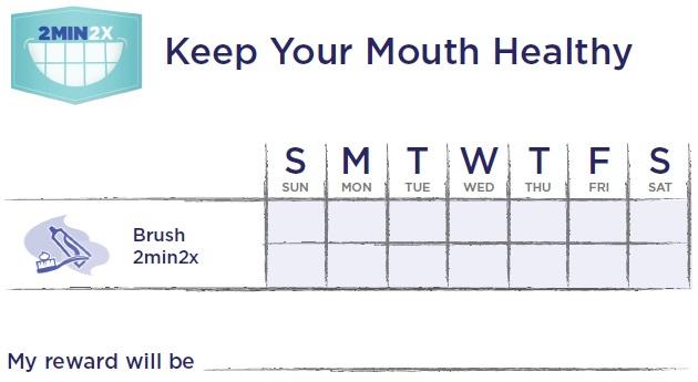 Imagen de la campaña 2min2x.org para la correcta frecuencia de cepillado