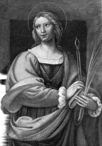 Imagen clásica de Santa Apolonia